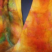 Аксессуары ручной работы. Ярмарка Мастеров - ручная работа Валяный палантин Рыжий. Handmade.