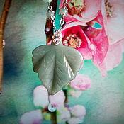Украшения ручной работы. Ярмарка Мастеров - ручная работа Ожерелье Цвет Востока и шарф Совушки. Handmade.