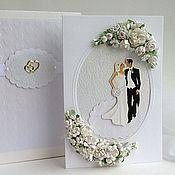 Свадебный салон ручной работы. Ярмарка Мастеров - ручная работа Свадебная открытка в коробочке - Торжественная. Handmade.