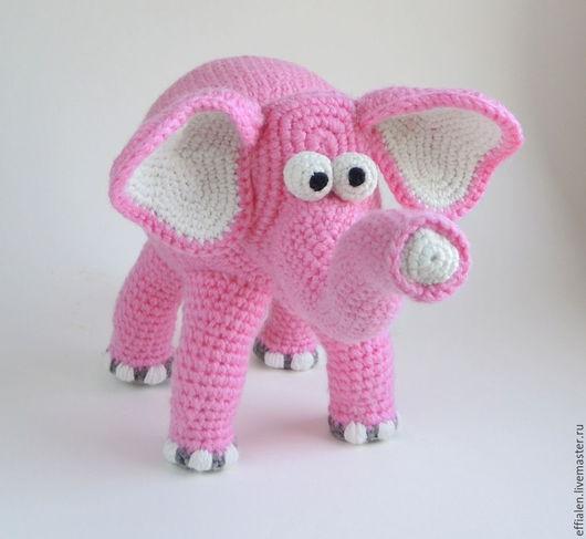 Игрушки животные, ручной работы. Ярмарка Мастеров - ручная работа. Купить Розовый Слонёнок. Handmade. Розовый, Вязание крючком, хлопок