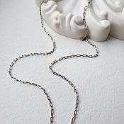 Украшения handmade. Livemaster - original item 45 cm Anchor chain, oval links, silver (art: :042d0,50, ). Handmade.