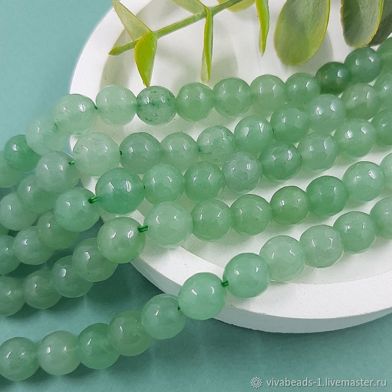 10 PCs. Aventurine natural faceted bead 8 mm (5474-8), Beads1, Voronezh,  Фото №1