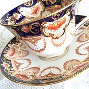 Винтаж ручной работы. Ярмарка Мастеров - ручная работа Антикварная фарфоровая чайная пара Royal Albert Сrown. Handmade.