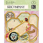 Набор тегов в металлических рамочках, K&Company
