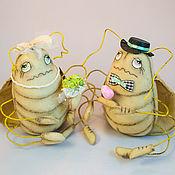 Куклы и игрушки ручной работы. Ярмарка Мастеров - ручная работа Свадебные куклы Влюбленные Таракаши. Handmade.
