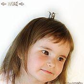 """Украшения ручной работы. Ярмарка Мастеров - ручная работа """"Корона для девочки"""" Заколка для волос (невидимка). Handmade."""