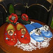 """Обувь ручной работы. Ярмарка Мастеров - ручная работа Тапочки валяные """"Ассорти"""". Handmade."""