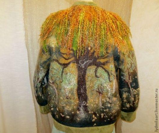Верхняя одежда ручной работы. Ярмарка Мастеров - ручная работа. Купить Куртка валяная  « Сказочный лес».. Handmade.