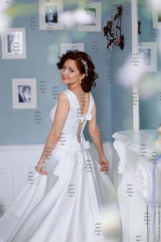 Одежда и аксессуары ручной работы. Ярмарка Мастеров - ручная работа. Купить Свадебное платье  Модельное по фигуре. Handmade. Белый
