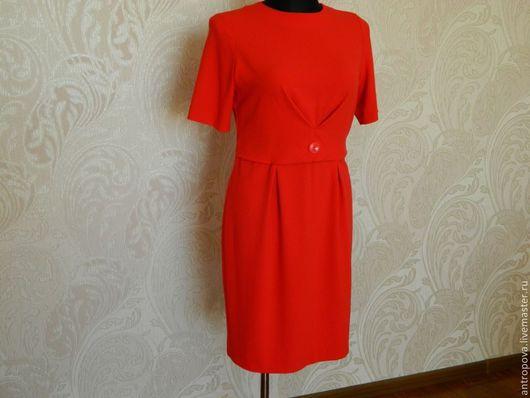 Платья ручной работы. Ярмарка Мастеров - ручная работа. Купить платье нарядное. Handmade. Ярко-красный, короткий рукав