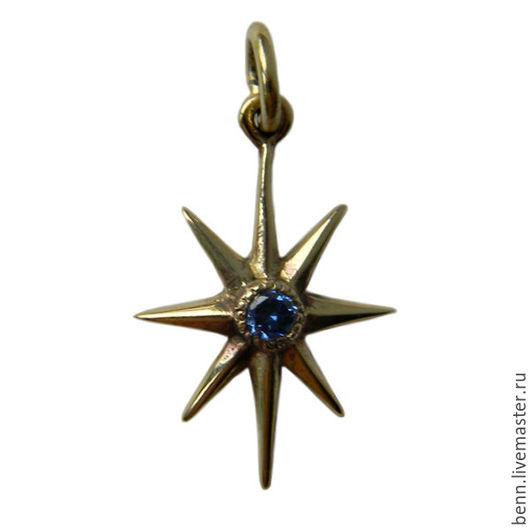 """Кулоны, подвески ручной работы. Ярмарка Мастеров - ручная работа. Купить Кулон """"Звезда"""". Handmade. Амулет, крест, бронзовый кулон"""