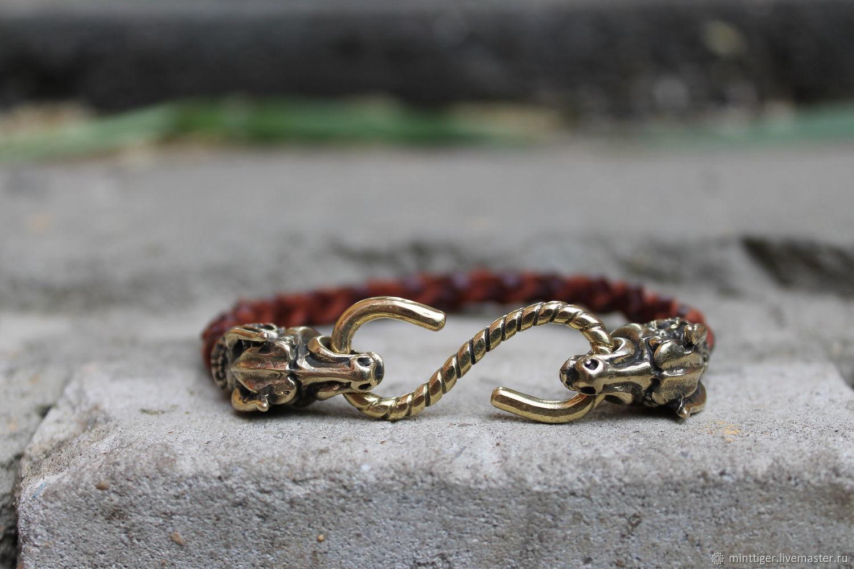 Leather bracelet Unisex - Telets (Taurus), Bead bracelet, Volgograd,  Фото №1