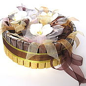 Подарки к праздникам ручной работы. Ярмарка Мастеров - ручная работа Шоколад и живые орхидеи. Handmade.