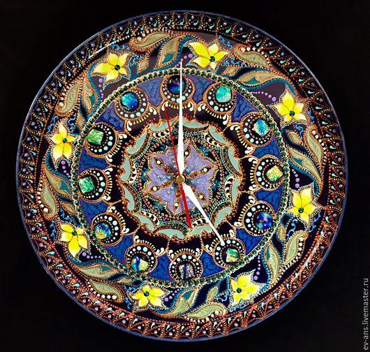 Часы для дома ручной работы. Ярмарка Мастеров - ручная работа. Купить Часы декоративные настенные Spring prelude. Handmade. Комбинированный