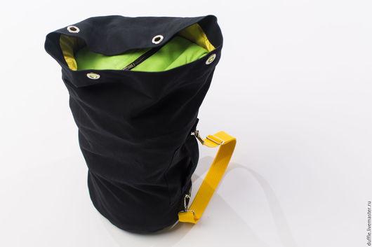 Спортивные сумки ручной работы. Ярмарка Мастеров - ручная работа. Купить Duffle bag- L size. Handmade. Черный