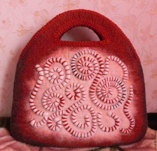 Женские сумки ручной работы. Ярмарка Мастеров - ручная работа. Купить Сумка валяная. Handmade. Рыжий, кирпичный
