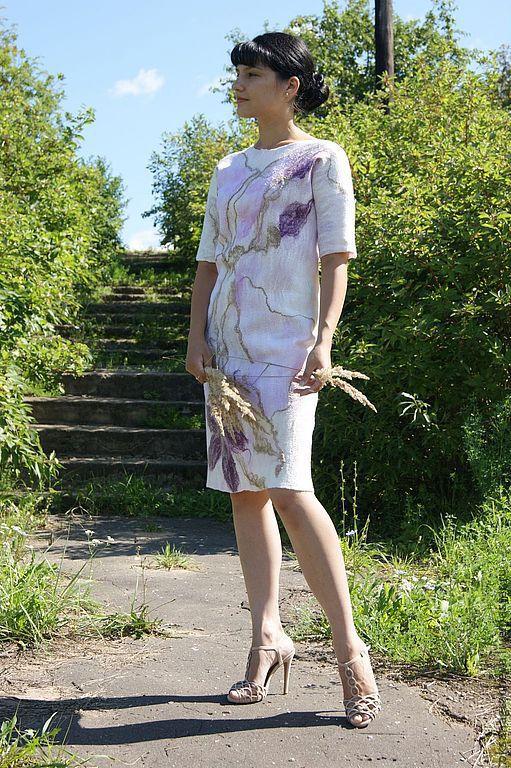 """Платья ручной работы. Ярмарка Мастеров - ручная работа. Купить Авторское валяное платье """" В объятиях аромата"""". Handmade."""