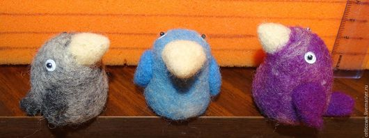 Персональные подарки ручной работы. Ярмарка Мастеров - ручная работа. Купить Цветные микро-птички. Handmade. Комбинированный, птички