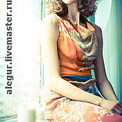 """Одежда ручной работы. Ярмарка Мастеров - ручная работа Шелковое платье """"Сакура"""". Handmade."""