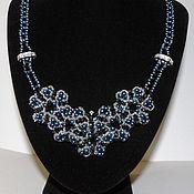 Украшения handmade. Livemaster - original item Necklace Evening Blue Pearls. Handmade.