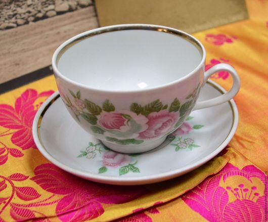 Винтажная посуда. Ярмарка Мастеров - ручная работа. Купить Чайная пара. Handmade. Комбинированный, фарфор