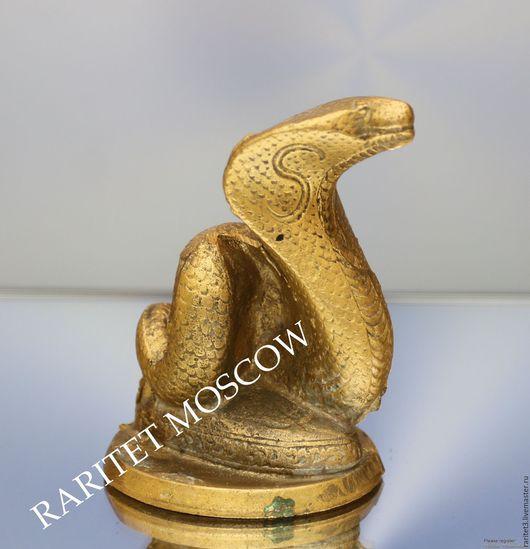 Винтажные предметы интерьера. Ярмарка Мастеров - ручная работа. Купить Змея кобра статуэтка пресс папье бронза Англия. Handmade.