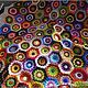 """Текстиль, ковры ручной работы. Ярмарка Мастеров - ручная работа. Купить Вязаный плед (покрывало, коврик) """"Карамельки"""". Handmade. Разноцветный"""