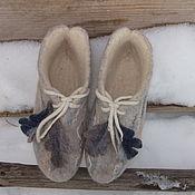 Обувь ручной работы. Ярмарка Мастеров - ручная работа валяные башмачки,,Январь``. Handmade.