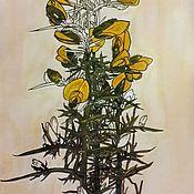 Картины и панно handmade. Livemaster - original item Watercolor herbarium.Charles Rennie Mackintosh, a copy of. Handmade.