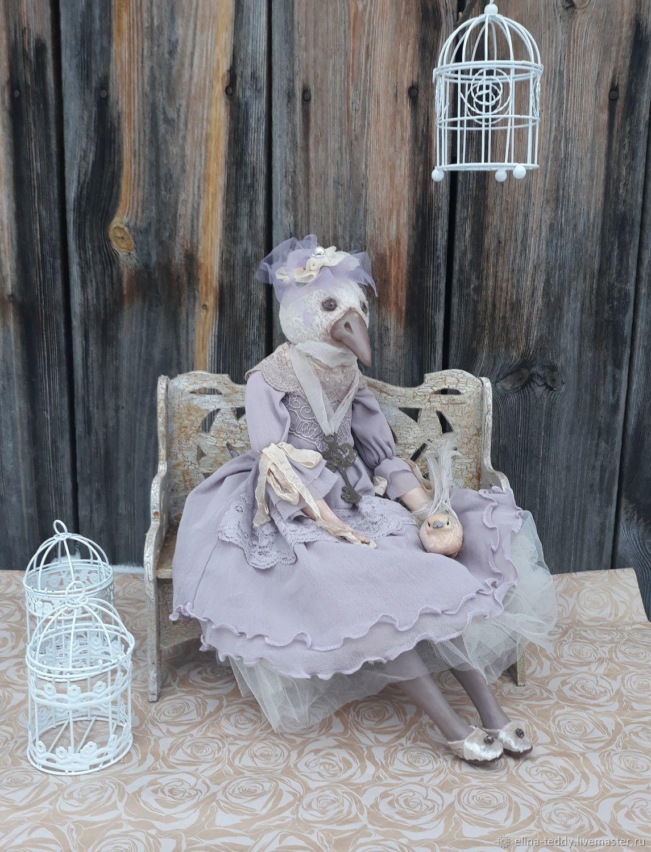 Белая ворона будуарная авторская кукла, Будуарная кукла, Маслянино,  Фото №1