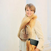 Аксессуары handmade. Livemaster - original item Fox fur scarf /real fox fur collar. Handmade.