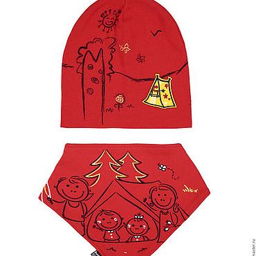 Аксессуары ручной работы. Ярмарка Мастеров - ручная работа Комплект детский-шапка/косынка. Handmade.