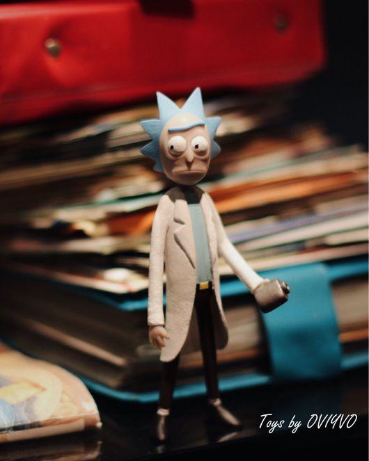 Человечки ручной работы. Ярмарка Мастеров - ручная работа. Купить Rick and Morty . Фигурка Рика из мультфильма Рик и Морти.. Handmade.