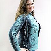 Одежда handmade. Livemaster - original item Felted jacket Mint grey. Handmade.