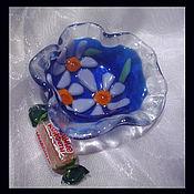 """Посуда ручной работы. Ярмарка Мастеров - ручная работа Розетка """" Ромашки"""" из цветного стекла.. Handmade."""