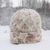 Аксессуары handmade. Livemaster - original item Cap Rosa. Bilateral. Merino wool, rabbit down, silk. Handmade.
