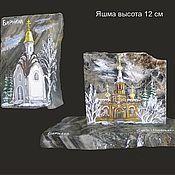 Сувениры и подарки handmade. Livemaster - original item Painting on stone Souvenir landmark of the city. Handmade.