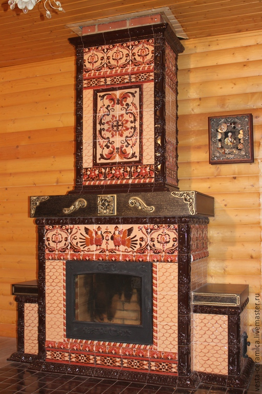 Tiled fireplace 'Gingerbread', Fireplaces, Moscow,  Фото №1