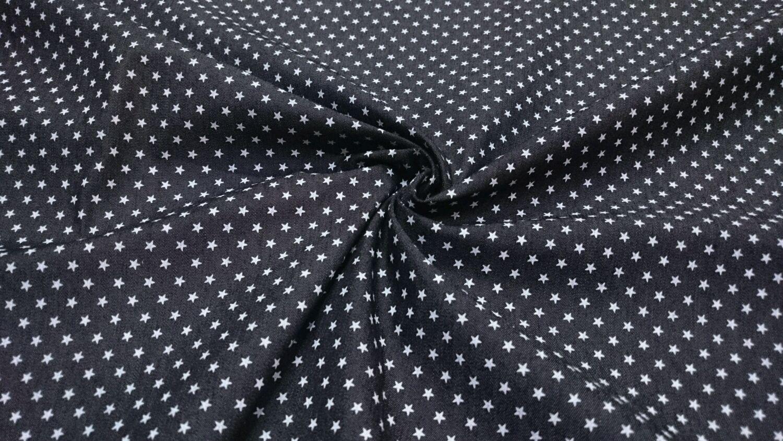 Джинса-стрейч в мелкие звездочки Patricia Pepe, черная, Ткани, Новосибирск,  Фото №1