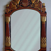Для дома и интерьера handmade. Livemaster - original item Frame for mirror carved scarab. Handmade.