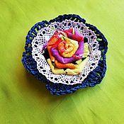 Украшения handmade. Livemaster - original item Brooch textile (6). Handmade.