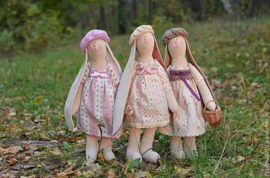 Игрушки животные, ручной работы. Ярмарка Мастеров - ручная работа. Купить три сестры. Handmade. Авторская игрушка, хлопок 100%