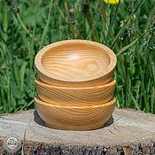 Для дома и интерьера ручной работы. Ярмарка Мастеров - ручная работа Кедровая посуда Чаши набор 3 шт. Для пищевых продуктов и пр TN4. Handmade.