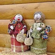 Куклы и игрушки ручной работы. Ярмарка Мастеров - ручная работа Баба Маня с дочкой Глашей идут  с ярмарки. Handmade.