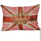 Для дома и интерьера ручной работы. Ярмарка Мастеров - ручная работа Королевская подушка с британским флагом. Handmade.