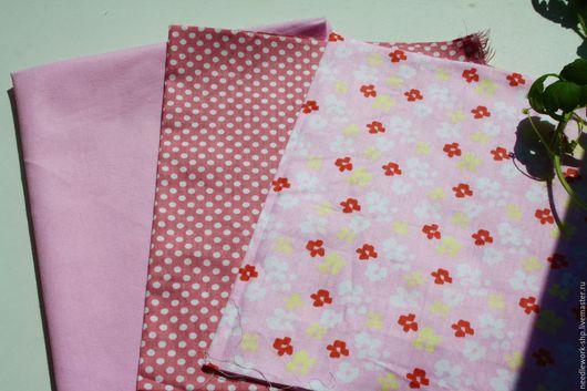 Шитье ручной работы.Ярмарка Мастеров- ручная работа. Купить Набор тканей Розовый № 5  , 3 шт, хлопок. Ткани для творчества.Handmade.