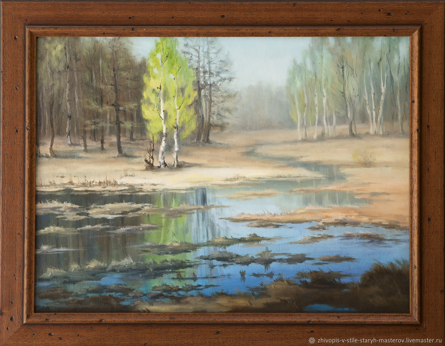 Oil painting 'Spring flood', Pictures, St. Petersburg,  Фото №1