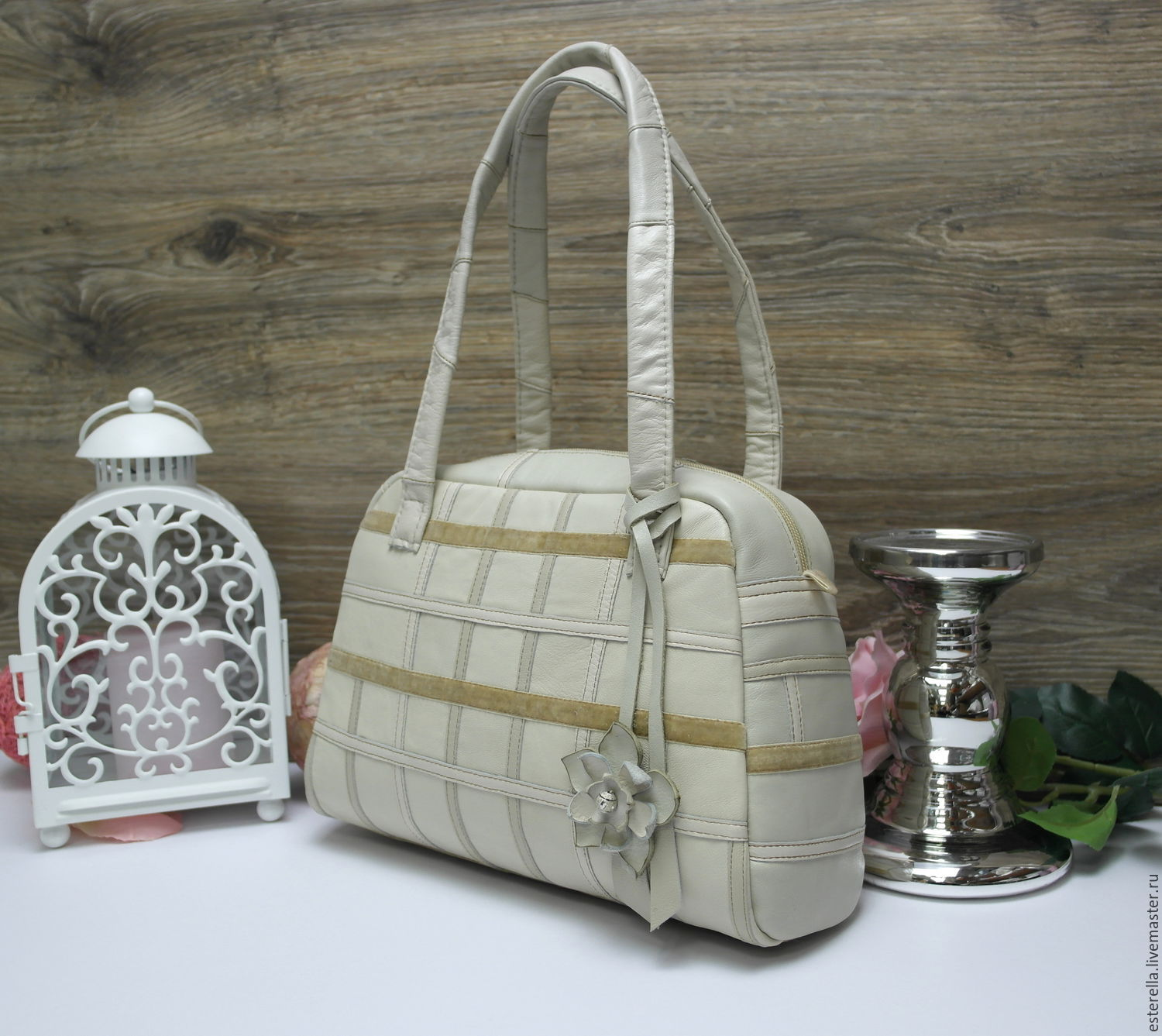 Everyday bag delicate shade of ivory, Classic Bag, Moscow,  Фото №1