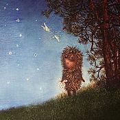 """Картины и панно ручной работы. Ярмарка Мастеров - ручная работа Картина """"Ежик в тумане"""". Handmade."""