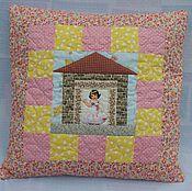Для дома и интерьера ручной работы. Ярмарка Мастеров - ручная работа Подушка для девочки. Handmade.